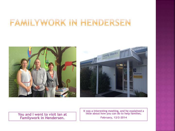 Familywork