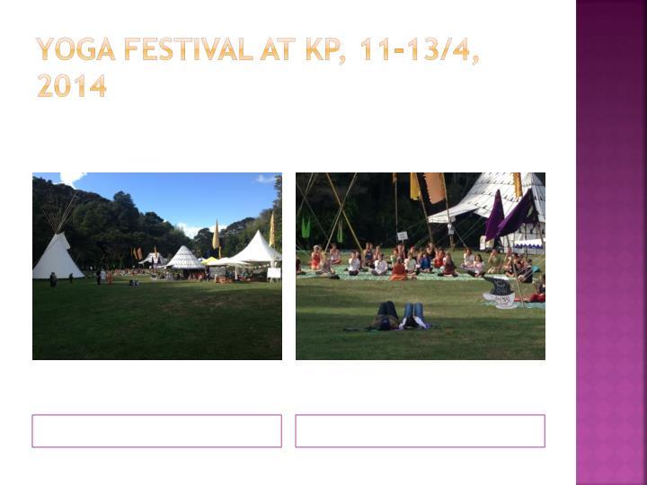 Yoga festival at
