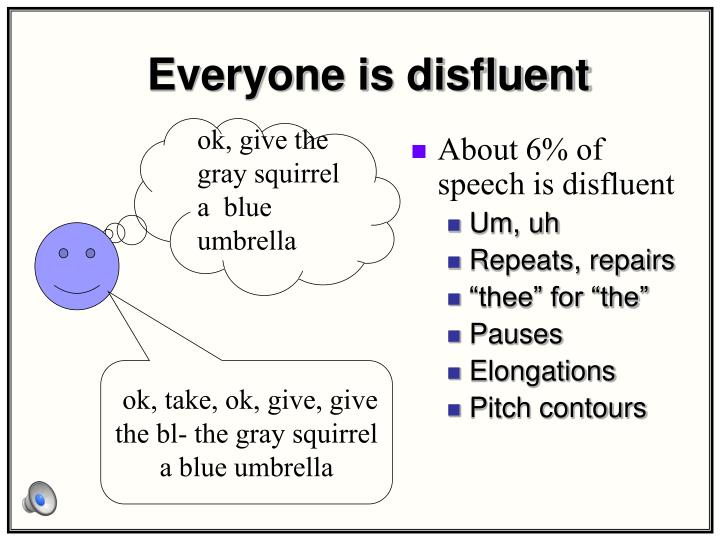 Everyone is disfluent