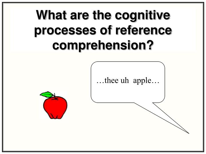 What are the cognitive processes of reference comprehension