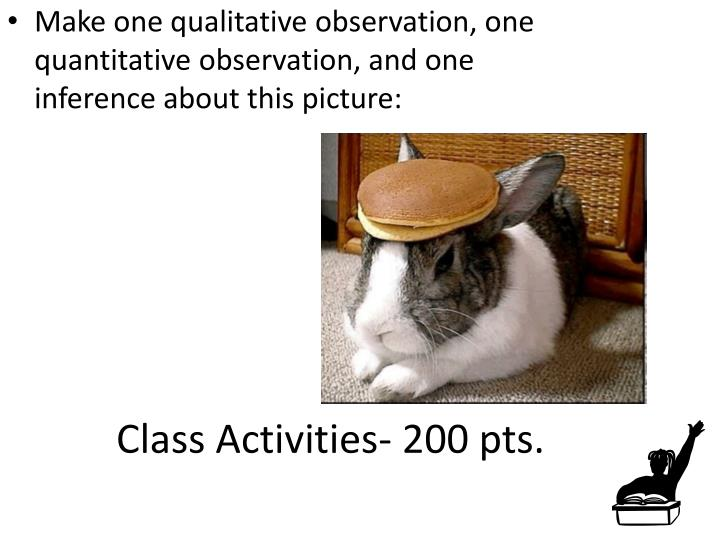 Class Activities- 200 pts.