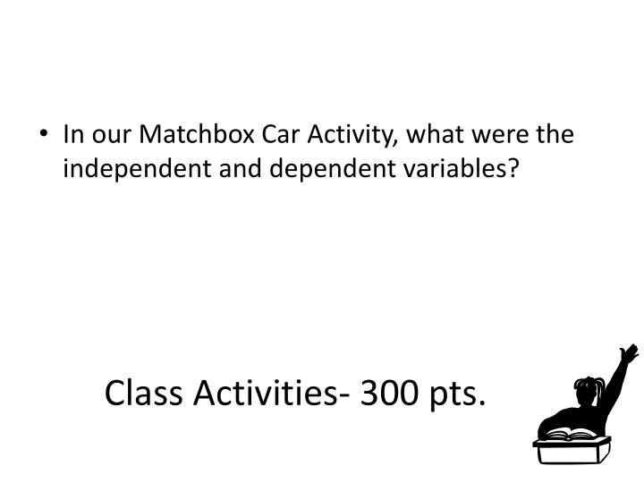 Class Activities- 300 pts.