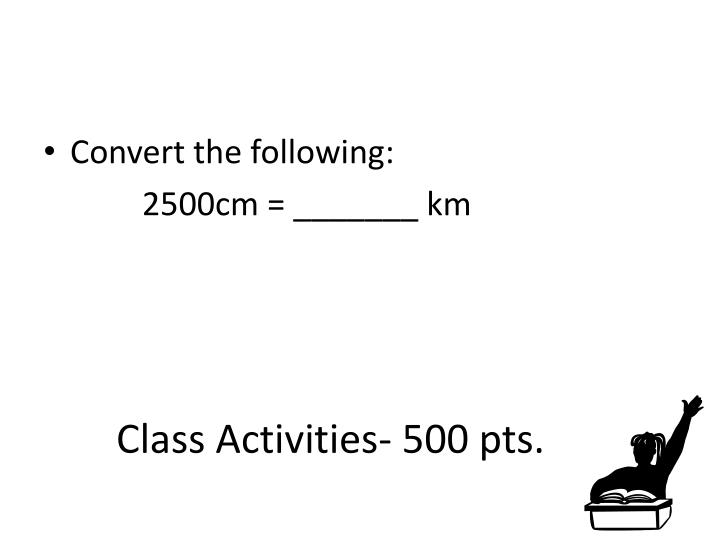 Class Activities- 500 pts.