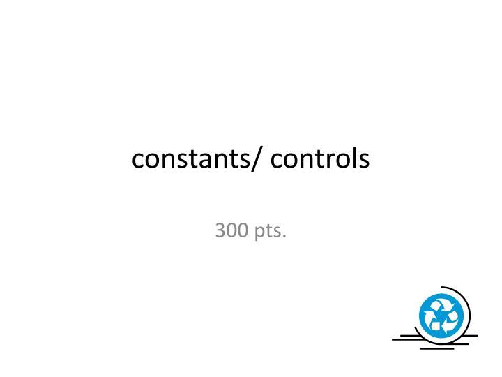 constants/ controls