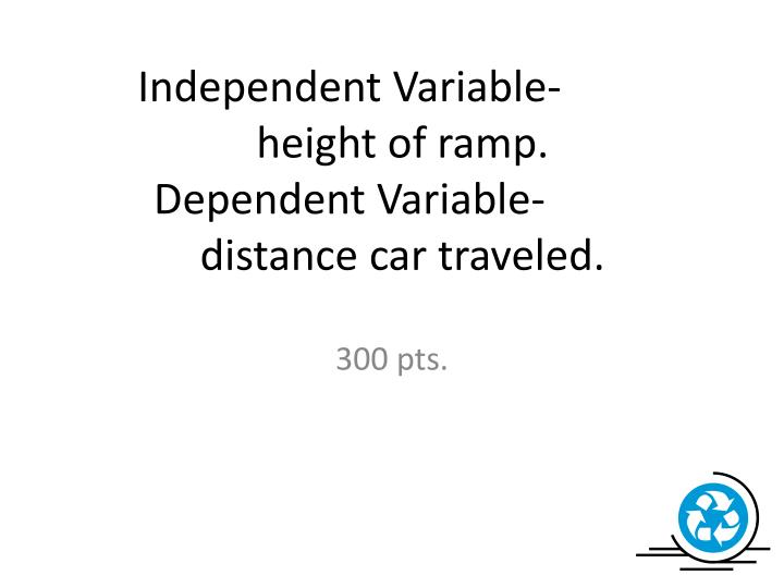 Independent Variable-