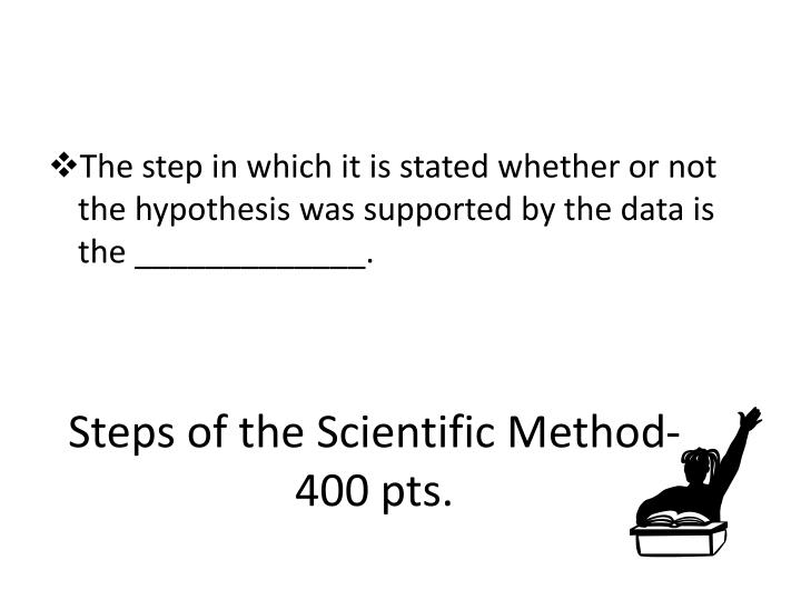 Steps of the Scientific Method- 400 pts.