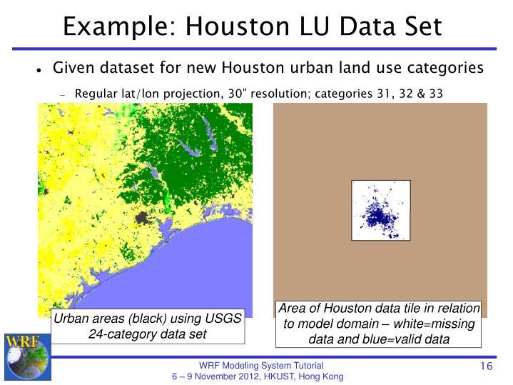 Example: Houston LU Data Set