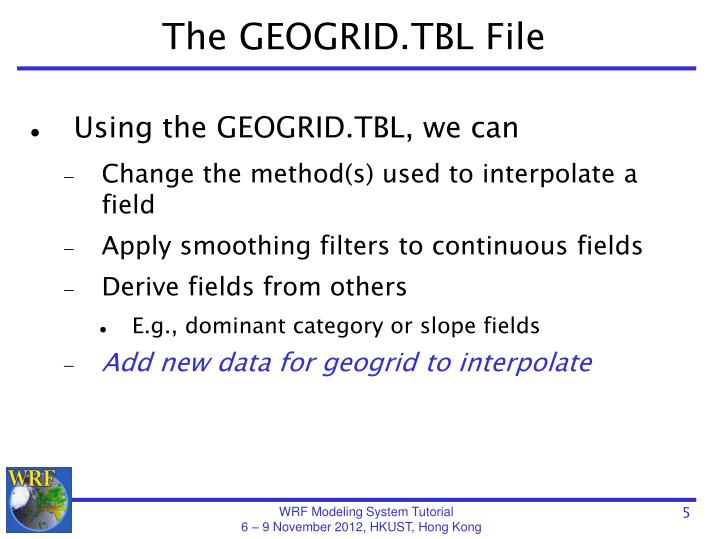 The GEOGRID.TBL File