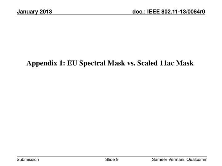 Appendix 1: EU Spectral