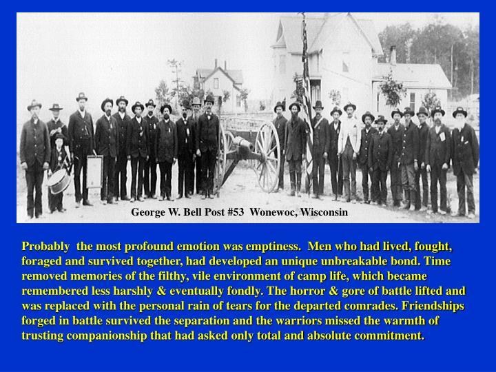 George W. Bell Post #53  Wonewoc, Wisconsin