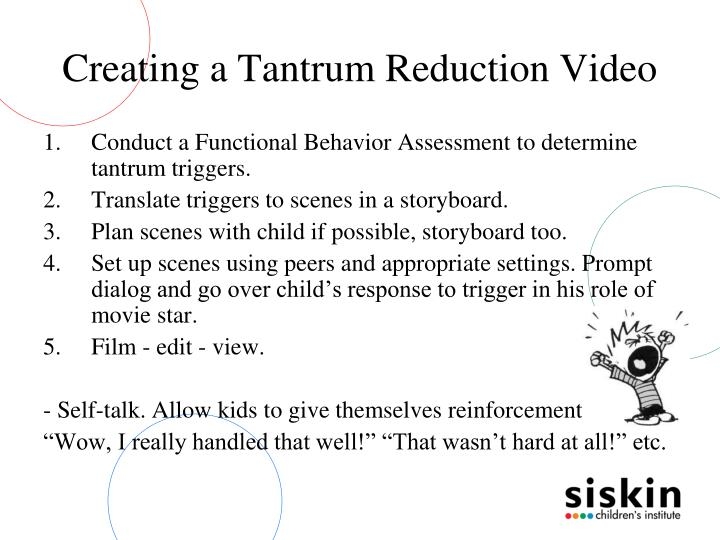 Creating a Tantrum Reduction Video