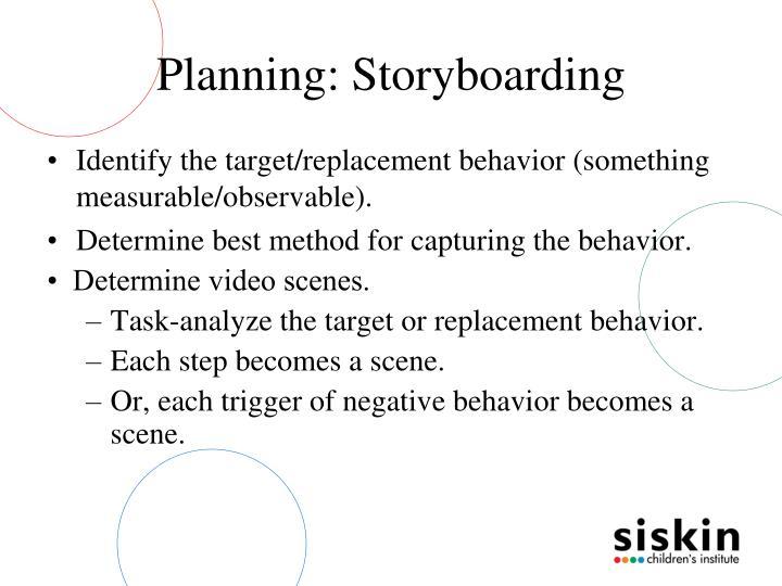 Planning: Storyboarding