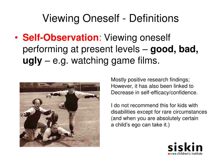 Viewing Oneself - Definitions