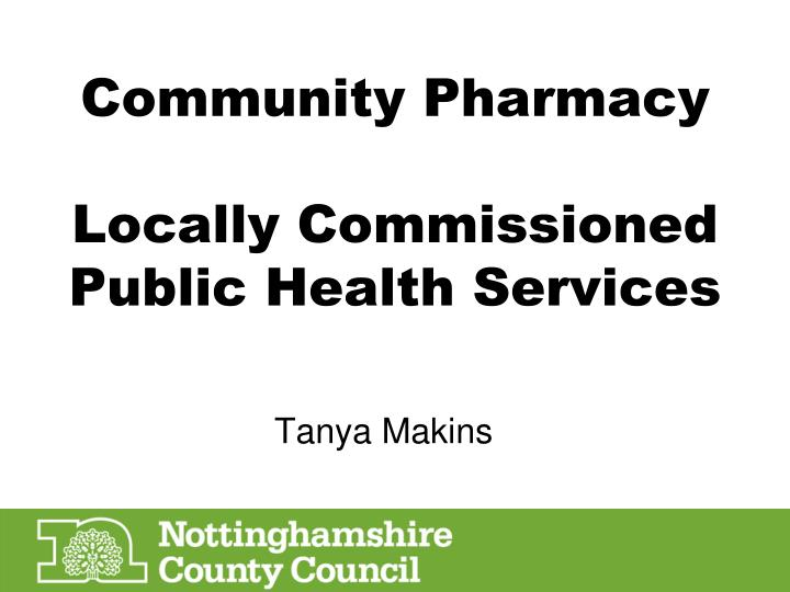 Community Pharmacy