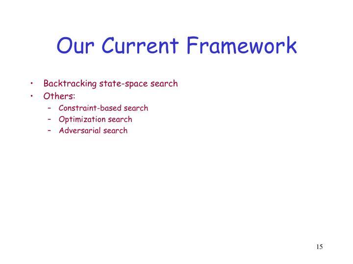 Our Current Framework