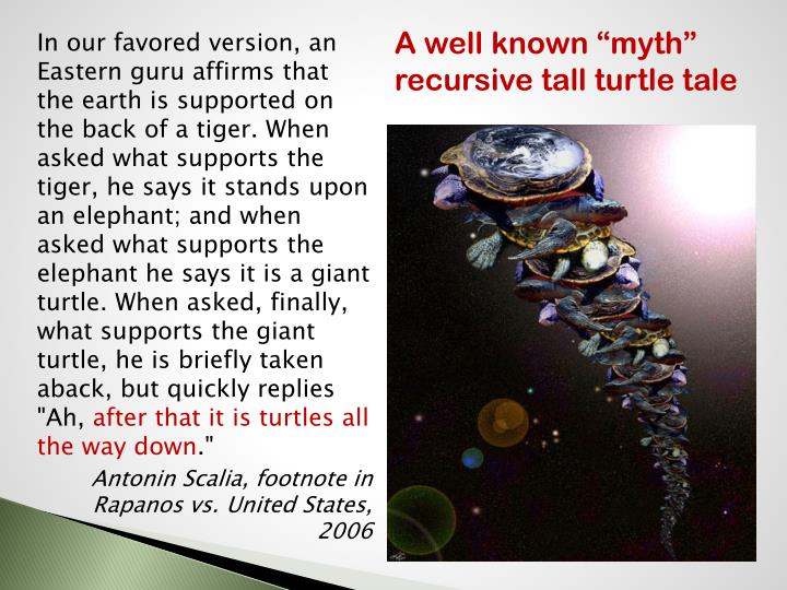"A well known ""myth"" recursive tall turtle tale"