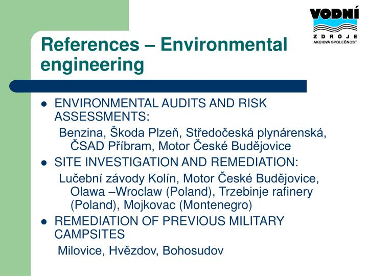 References – Environmental engineering