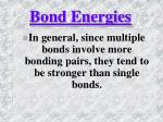bond energies1