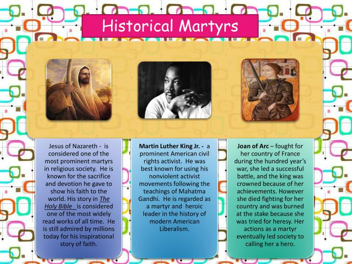 Historical Martyrs