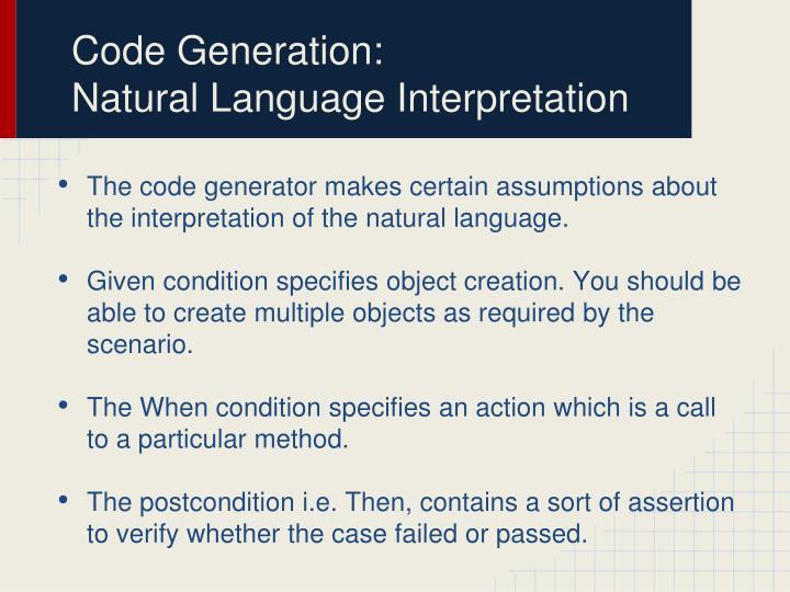 Code Generation: