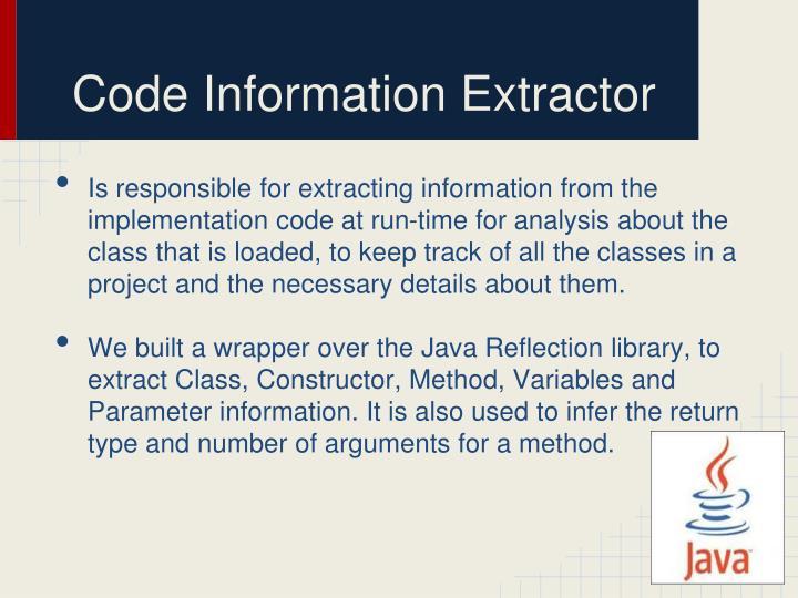 Code Information Extractor