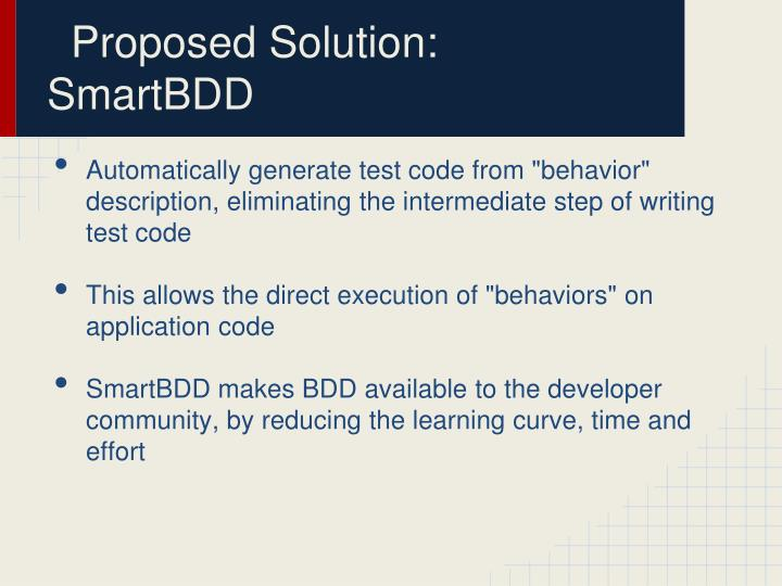 Proposed Solution: SmartBDD
