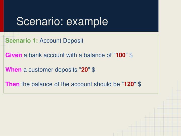 Scenario: example