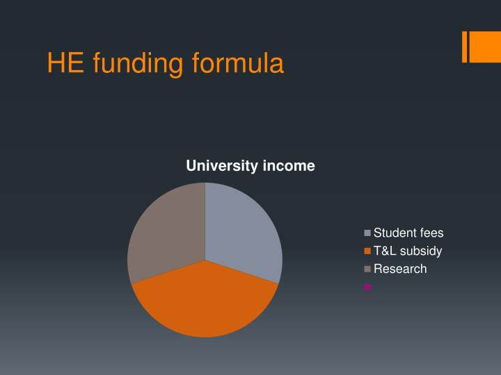 HE funding formula