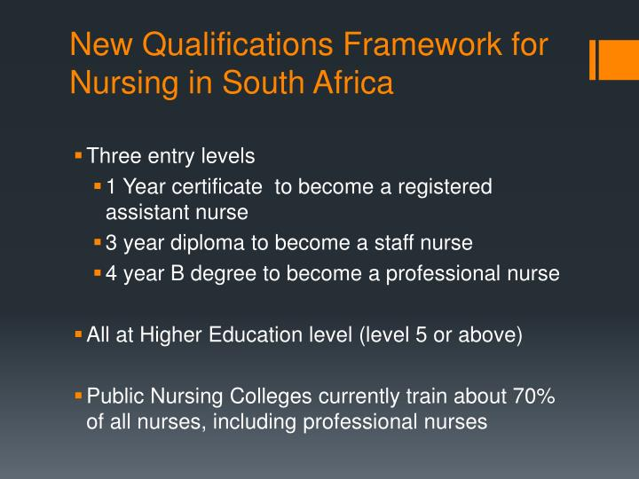 New qualifications framework for nursing in south africa