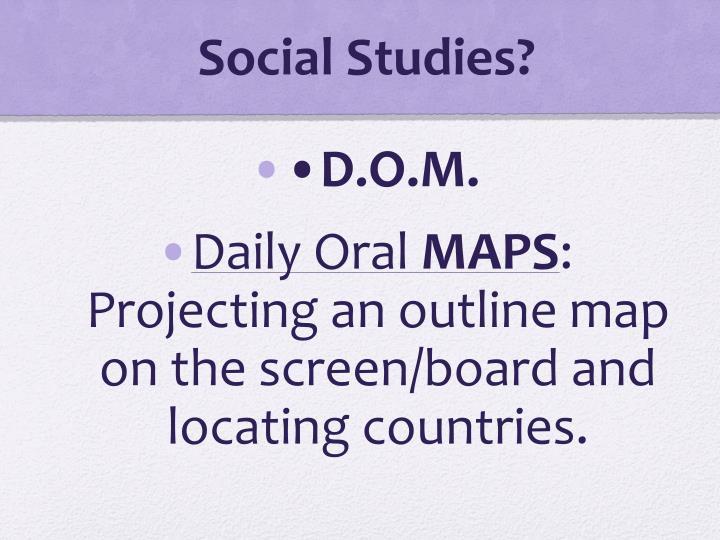 Social Studies?