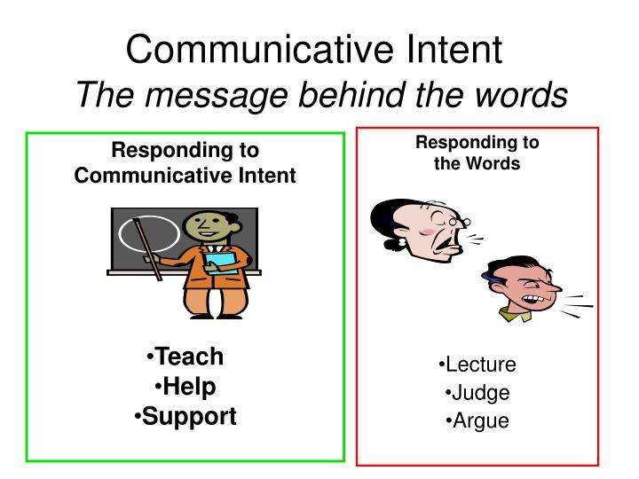 Communicative Intent