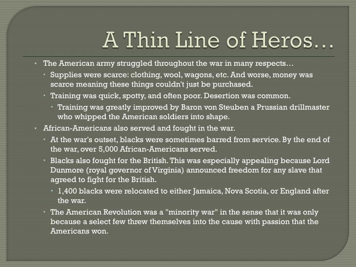 A Thin Line of