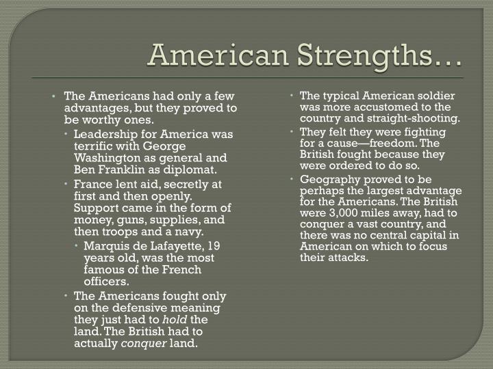 American Strengths…