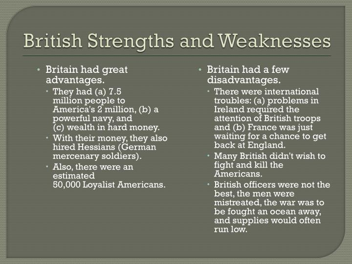 British Strengths and Weaknesses