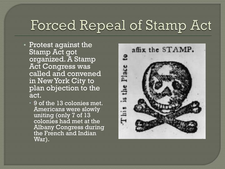 Forced Repeal of Stamp Act
