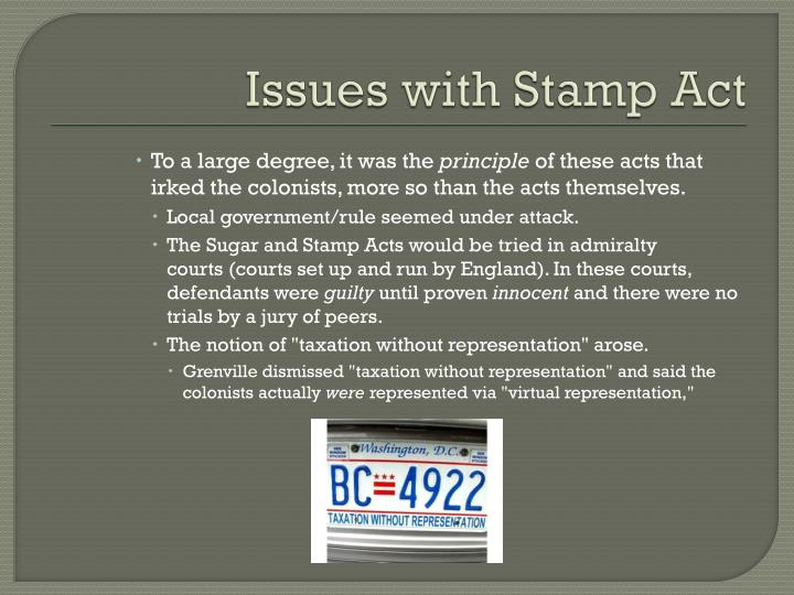 Issues with Stamp Act