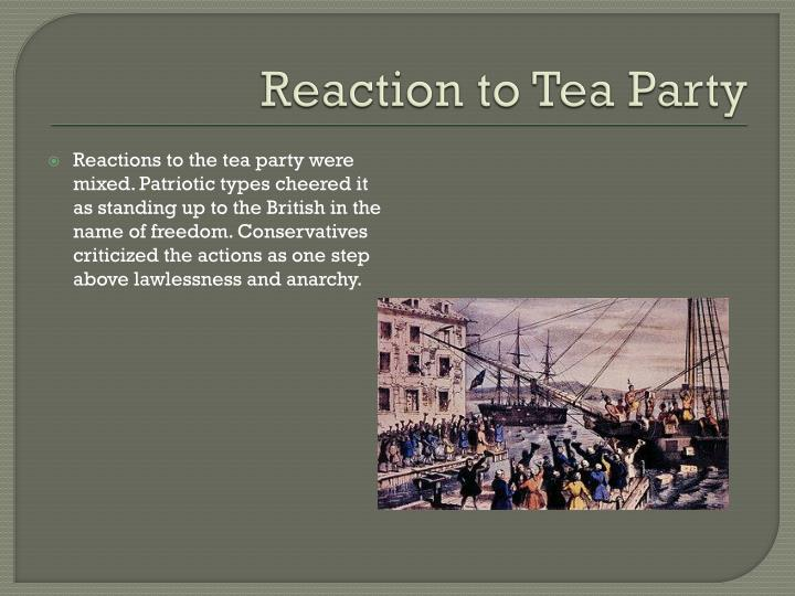 Reaction to Tea Party