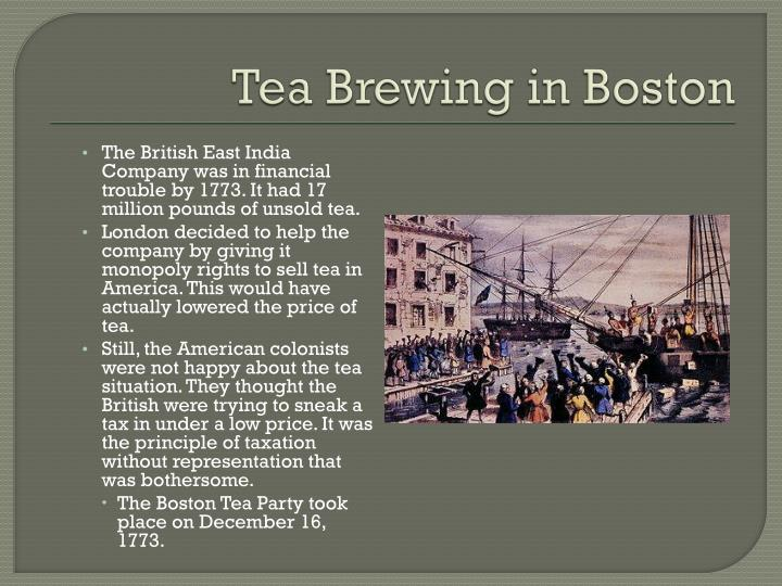 Tea Brewing in Boston
