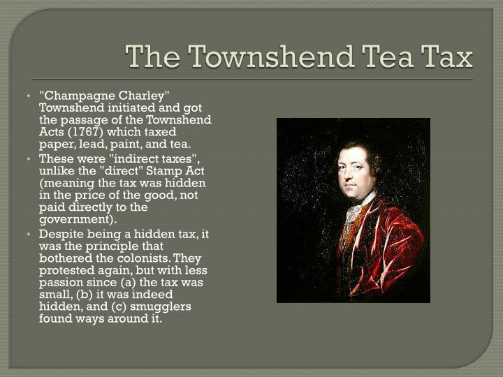 The Townshend Tea Tax