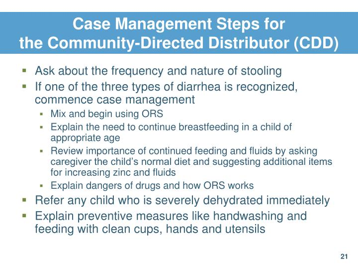 Case Management Steps for
