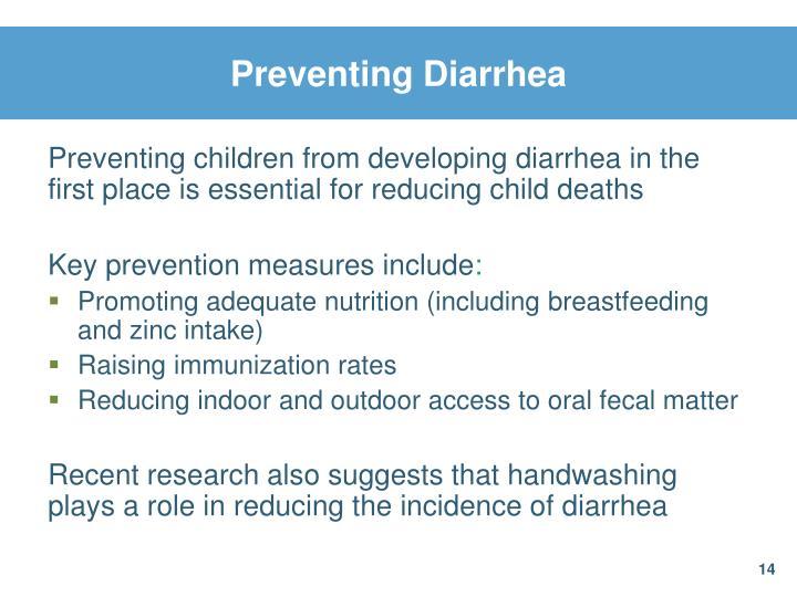 Preventing Diarrhea