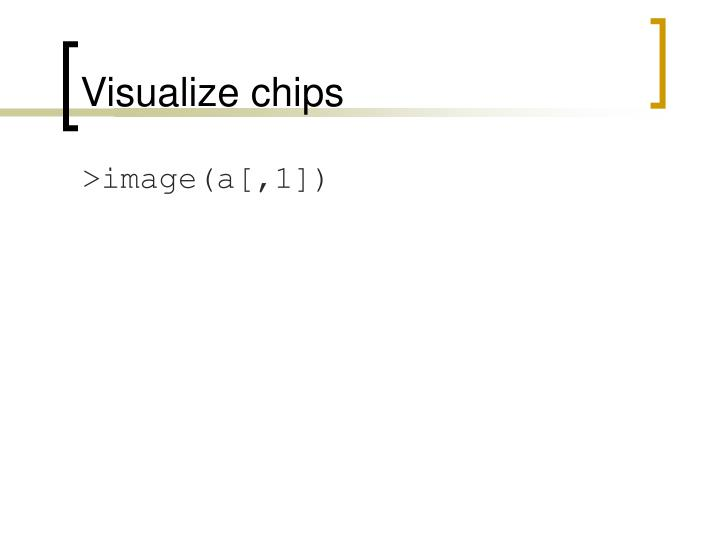 Visualize chips
