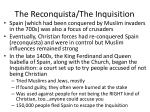 the reconquista the inquisition
