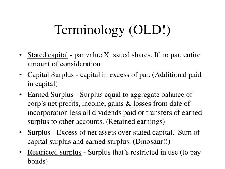 Terminology (OLD!)