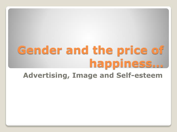 Gender and the price of happiness…