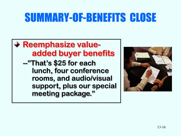 SUMMARY-OF-BENEFITS  CLOSE