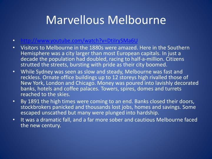 Marvellous Melbourne