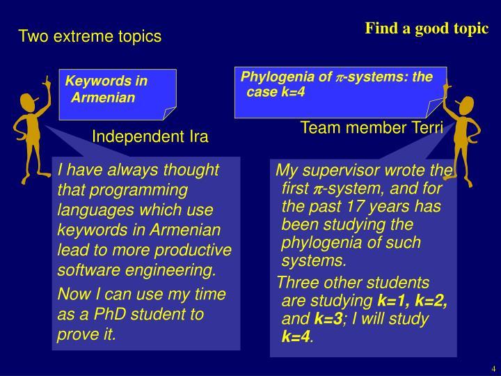 Keywords in Armenian