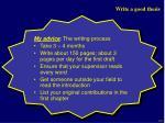 write a good thesis7