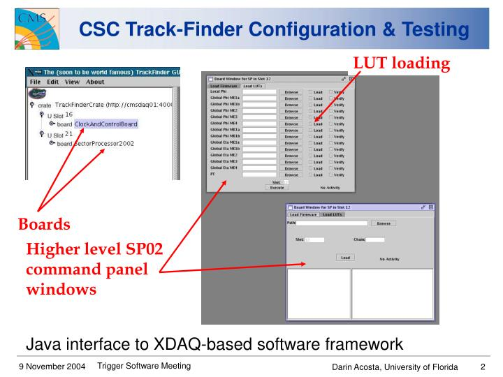 Csc track finder configuration testing